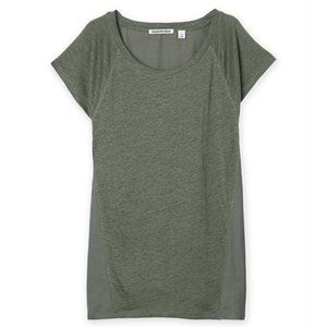Country Road Spliced Linen T-shirt